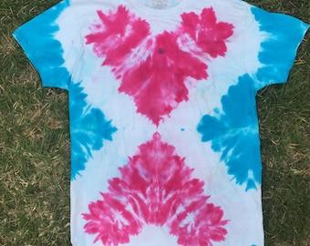 Tie Dye T-shirt Double Hearts