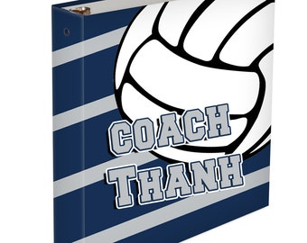 Custom 3 ring binder for Volleyball - Player or Coach - Any Colors - Personalized Binder Memory Book Volleyball Coach