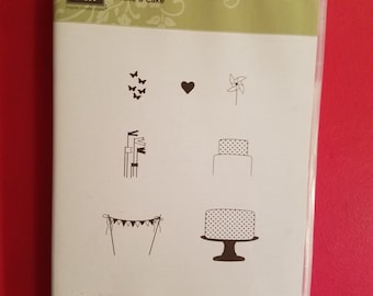 """Retired, New, Stampin' Up Stamp set called """"Make A Cake"""""""