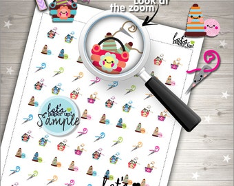 60%OFF - Knitting Stickers, Printable Planner Stickers, Knit Stickers, Knit Accessories, Kawaii Stickers, Planner Accessories, Stamps