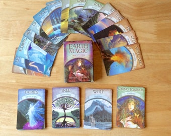 48 Oracle cards/ Oracle deck/ prediction cards/ tarot cards/ earth magic/ moon magic/ psychic spell/ green man/ fortune telling/ free spell
