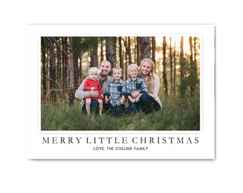 Photo Christmas Cards // Digital Christmas Cards // Classic Holiday Photo Card // 5x7 Printable Holiday Photo Card // The Collins
