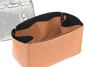 Regular Style Nubuck Leather Handbag Organizer for Birkin Bags