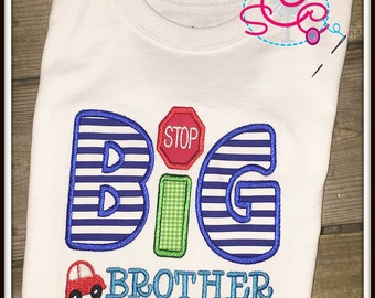 Personalized Cars Themed Big Brother Shirt/Bodysuit