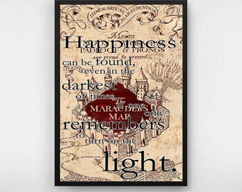Harry Potter poster Happiness Quote Harry Potter Poster