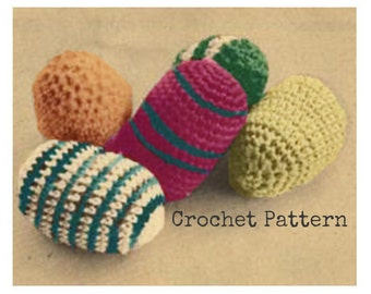 Crochet Easter EGGS Pattern Vintage Crochet Easter Decor Crochet Amigurumi Eggs Pattern