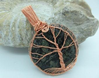 Lovely Kambaba Jasper Tree of Life Pendant