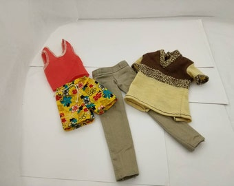 Ken Doll Shirts Shorts Brown  Jeans Denim  Pants clothes  Fashion Outfit  Barbie fashions