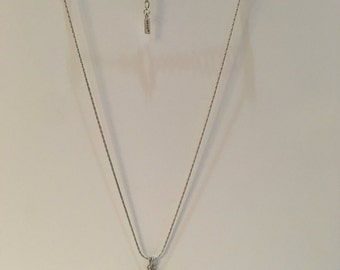 Vintage Stone Necklace with Metal Chain