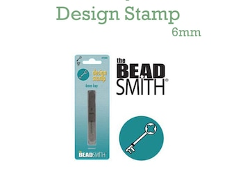 Key Metal Design Stamp - 6mm - BeadSmith - Skeleton Key