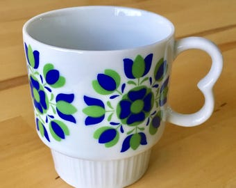Vintage Deauville butterfly handle mug - 1960's