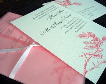 "Magnolia Wedding Invitation Sample - ""Atlanta"""