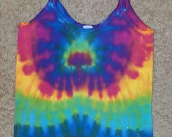 XL Women's Camisole in a Rainbow Burst Tie Dye