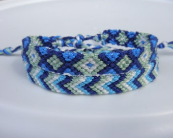 Blue and Green Friendship Bracelet