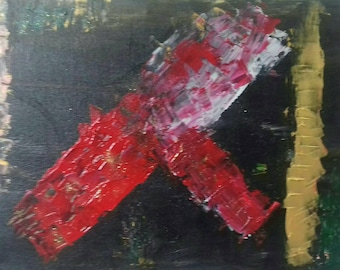 Abstract Flying spitfire on