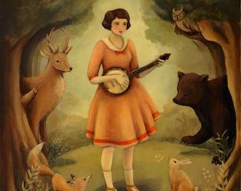 Banjo Recital Print 8x10 by Emily Winfield Martin