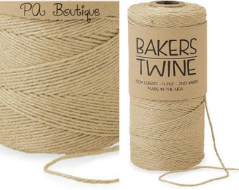 Natural Kraft Tan 4-ply 100% Cotton Baker's Twine (Free Shipping!)