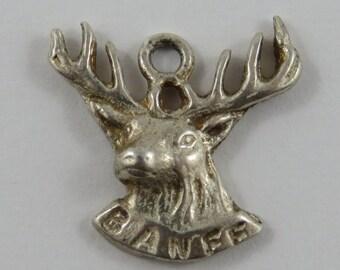 Banff Buck Head Sterling Silver Vintage Charm For Bracelet