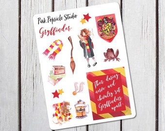 Gryffindor Harry Potter Sampler Planner Stickers Designed for the Erin Condren Life Planner