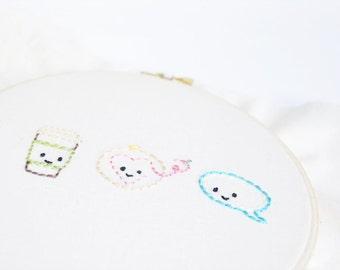 Teeny Tiny Blog Buddies - PDF Hand Embroidery Pattern