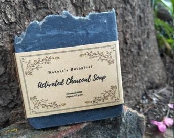 Activated Charcoal Soap / Handmade Soap / Cold Process Soap / Natural Soap / Vegan Soap / Exfoliating soap