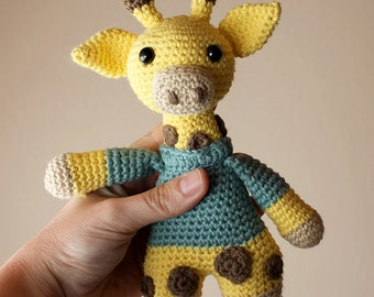 Giraffe - Animalius. Crochet Doll, Amigurumi Toy, Crocheting, Made to Order, Animal Crochet, Cute Children Gift, Nursery Doll, DIY
