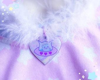 Fuzzy UFO trixie the alien choker