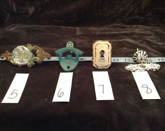 Assorted Variety of Shabby Chic Drawer and Cabinet Hardware Knobs and Pulls