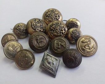 Button Collection. A mixed lot of Buttons Some Military Some Civilian Different Sizes