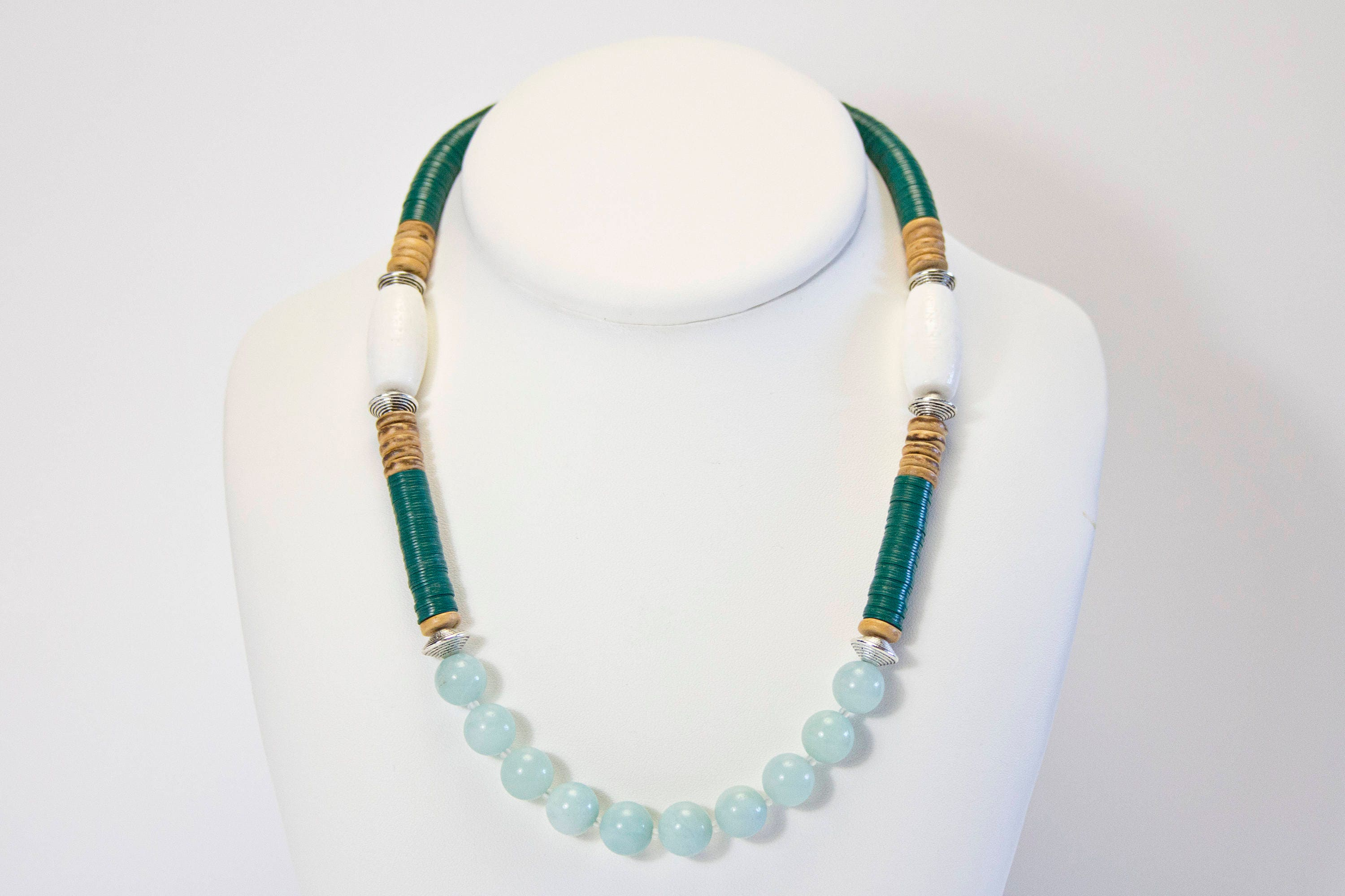 necklace halo gold in pendant amazonite fantasy products chic ethical set