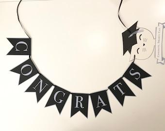 Congrats, Smarty Cat. Graduation Banner