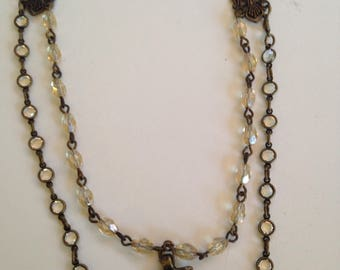 Vintage Accented Beaded Chain Necklace