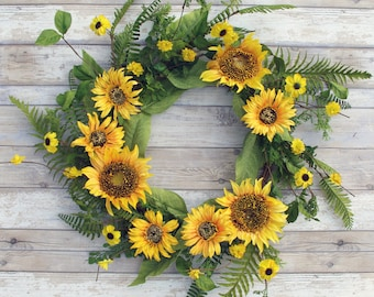 ESE Sunflower and Blossom wreath, 22""