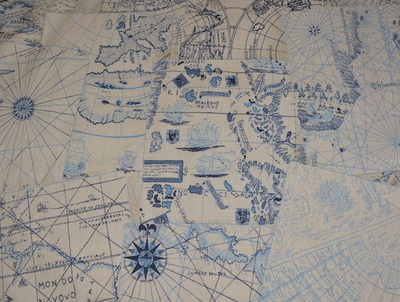 Fabric upholstery by the yard old world map waverly chart house fabric upholstery by the yard old world map waverly chart house nautical decor sailing pirate map home decor fabric tote bags from vintageinspiration on gumiabroncs Choice Image