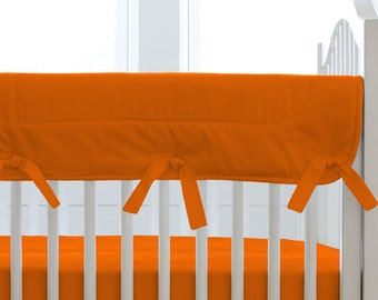 Gender Neutral Crib Bedding / Girl Baby Crib Bedding / Boy Baby Crib Bedding: Solid Orange Crib Rail Cover by Carousel Designs