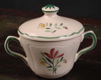 Longchamp, Tulip Covered Sugar Bowl, France