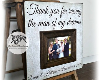 Mother of the Groom, Parents of the Groom, Thank You For Raising The Man of My Dreams, Wedding Thank You, 16x16 The Sugared Plums Frames