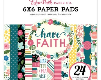 Have Faith - 6x6 Paper Pad - by Echo Park Paper Co. - Perfect for Bible Journaling!