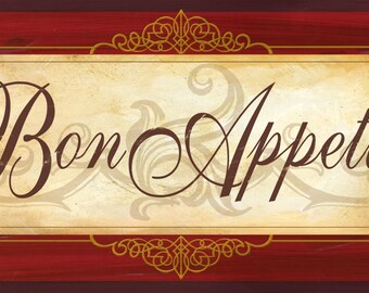 Bon Appetit wall decor,Bon Appetit sign,French Kitchen, kitchen wall decor