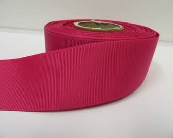 Grosgrain Ribbon 3mm 6mm 10mm 16mm 22mm 38mm 50mm Rolls, Fuchsia Dark Pink, 2, 10, 20 or 50 metres, Ribbed Double sided,