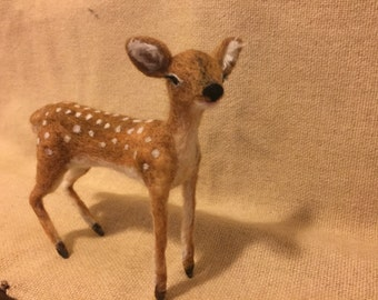 Needle felted Deer fawn, Wool Animal
