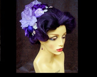 Theatrical Character Wig (W834) Victorian Hairstyle, Very Elegant Design, Musical or Play, Cabaret or Drag Pageant, Cosplay