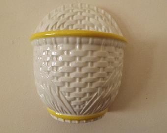 Haeger Pottery Basket Wall Pocket