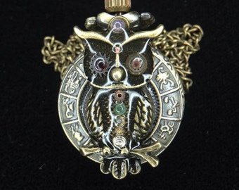 Chakra Point Owl Locket Watch