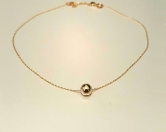 14k Solid Gold Ball gold necklace, 1 ball or 2 or 3,4.., Gold necklace, Jewelry, solid gold ball necklace, gold ball, special gold ball gift
