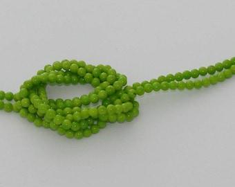 10 pearls green jade 6mm - Ref: PJ 2065
