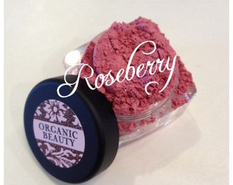 ROSE BERRY Blush Organic Beauty Minerals Vegan Cruelty Free