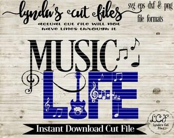 Music Life//SVG/EPS//DXF file