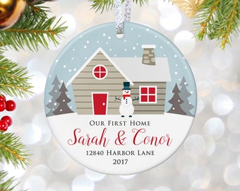 Our First Christmas In Our New Home Ornament Housewarming Gift New Home Ornament New Home Gift First Home Gift