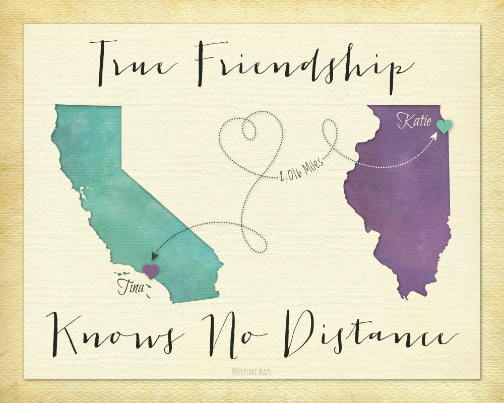 Quotes About Friendship Distance Long Distance Best Friend Gift Going Away Gift For Friend